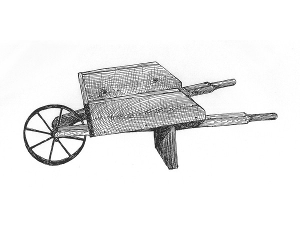 Small garden wheelbarrow by ByeGone Workshop