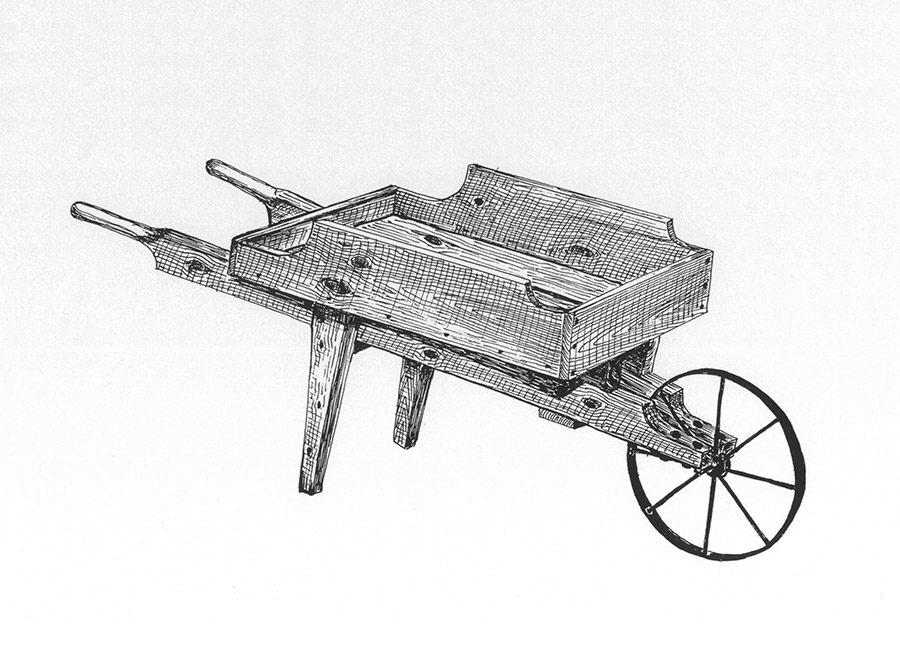 Amazing Wooden Garden Wheelbarrow By ByeGone Workshop