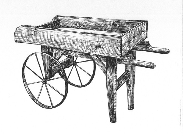 Vendor Cart with 8 Spoke Wheel by ByeGone Workshop