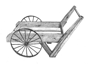 Peddler Cart with 16-Spoke Wheel by ByeGone Workshop